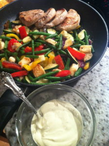 Fläskkotlett med grönsaker