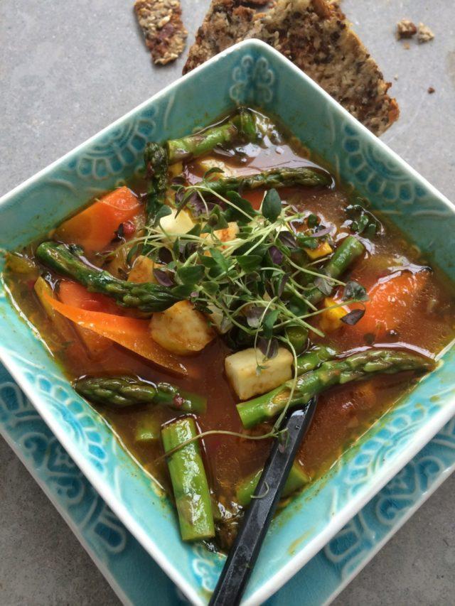 Sparrissoppa med saffran