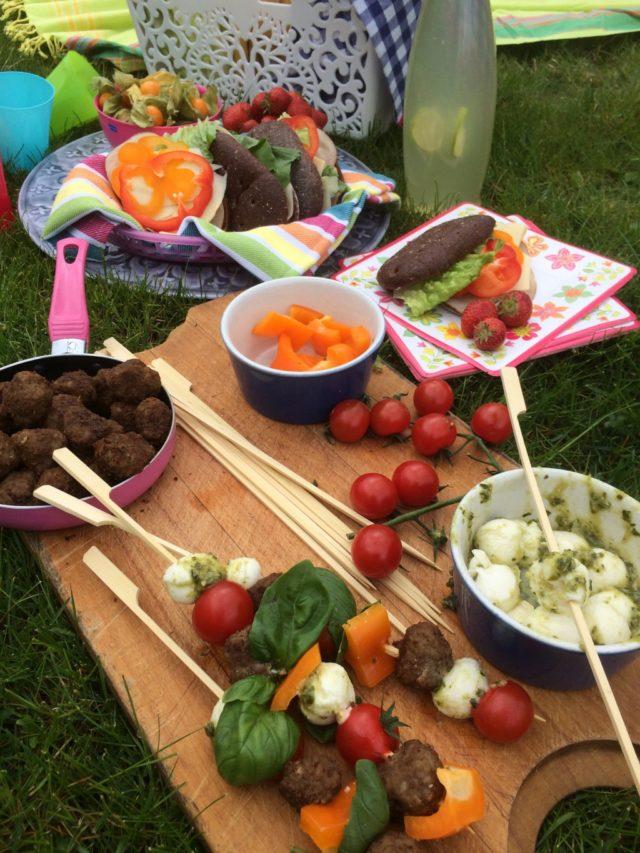 Hälsosam picknick