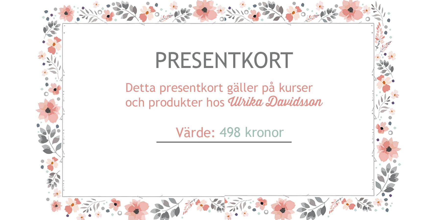 presentkort hos Ulrika Davidsson