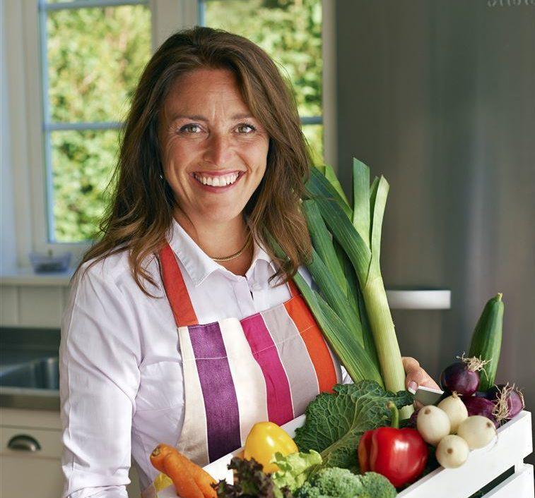 Ulrika med grönsaker